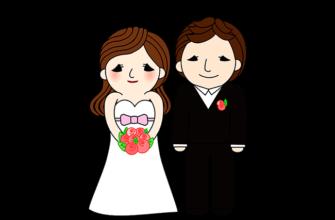 свадьба жених и невеста рисунок