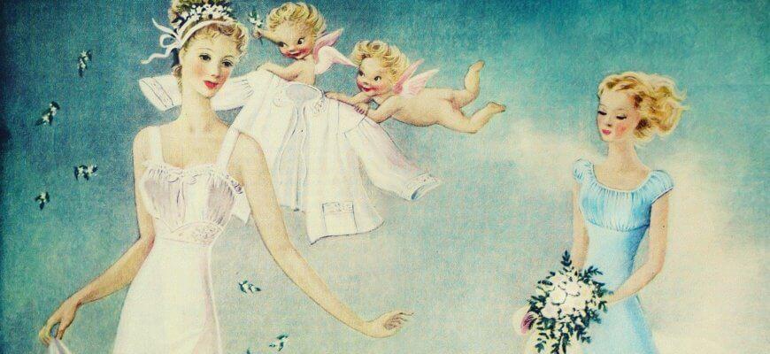 невеста, ангелочки и свадебный букет
